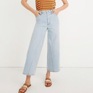 NWT Madewell Wide Leg Crop: Pieced Inset Edition